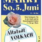 Sommermarkt in Volkach am 5. Juni